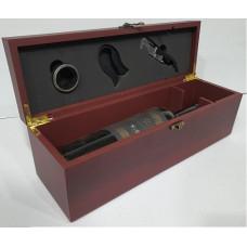 SET VINO caja p/1 bot 4 acc. 36x12x11 cm (108842)