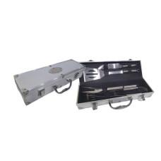 SET ASADO x 4 pcs caja aluminio  37x11x8 (110035)