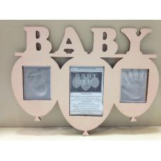 PORTARRETRATOS BABY ROSA