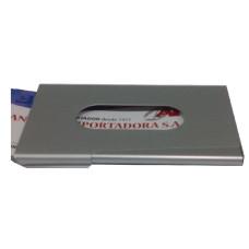 TARJETERO ALUMINIO C/VISOR /DISPENSER 9.5x6cm (110703)
