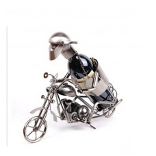 PORTABOTELLA MOTOCICLISTA CON CARA 46x20 Cm (110897)