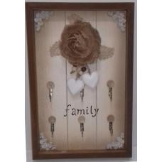 PORTA LLAVE FAMILY - 6 GANCHOS 30 x 20 Cm.