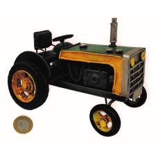 ADORNO METAL TRACTOR VERDE CH 15x8x10cm