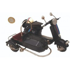 ADORNO MET MOTONETA C/SIDECAR 17x12x12cm