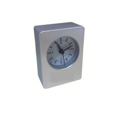 RELOJ ANALOGO ALARMA RECT 9x6cm. PLAS (200445)