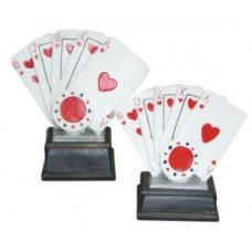 TROFEO CARTAS POCKER 8x8cm
